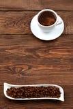 在一个空白杯子的咖啡 库存图片