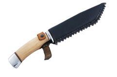 在一个空白背景查出的刀子 图库摄影