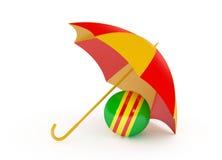 在一个空白背景查出的球伞 免版税库存照片