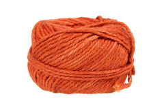 在一个空白背景查出的编织的纱线 库存图片