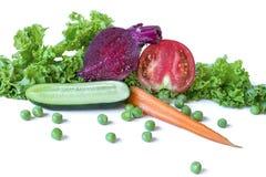 在一个空白背景查出的蔬菜 库存图片