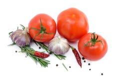 在一个空白背景查出的蔬菜 库存照片