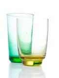 二块多彩多姿的葡萄酒玻璃 免版税图库摄影