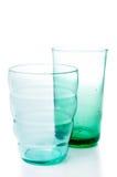 二块多彩多姿的葡萄酒玻璃 免版税库存图片