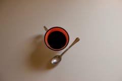 在一个空白背景的咖啡杯 库存图片