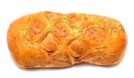 在一个空白背景的小圆面包 图库摄影