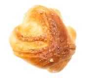 在一个空白背景的小圆面包 免版税库存照片