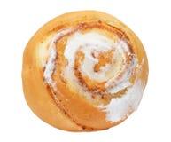 在一个空白背景的小圆面包 免版税库存图片