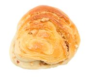 在一个空白背景的小圆面包 免版税图库摄影