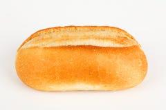 在一个空白背景的小圆面包 库存照片