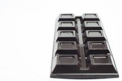 在一个空白背景的巧克力 免版税库存图片