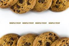 在一个空白背景的曲奇饼 免版税库存照片
