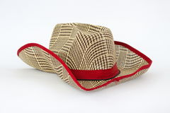 在一个空白背景的牛仔帽 免版税库存照片