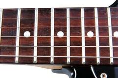 在一个空白背景的电吉他 库存照片