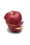 在一个空白背景的红色苹果 免版税库存照片