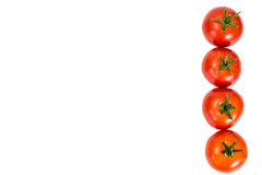 在一个空白背景的红色蕃茄 库存图片