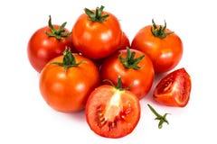 在一个空白背景的红色蕃茄 免版税图库摄影