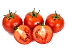 在一个空白背景的红色蕃茄 免版税库存图片