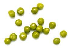 在一个空白背景的绿豆 宏指令 免版税库存图片