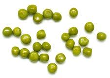 在一个空白背景的绿豆 宏指令 图库摄影