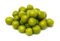 在一个空白背景的绿豆 宏指令 免版税库存照片