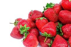 在一个空白背景的草莓 库存照片