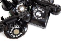 在一个空白背景的葡萄酒电话 免版税库存照片