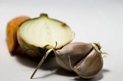 在一个空白背景的蔬菜 图库摄影