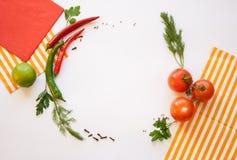 在一个空白背景的蔬菜 免版税图库摄影