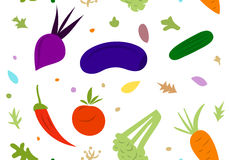 在一个空白背景的蔬菜 免版税库存图片