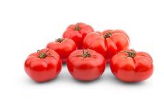 在一个空白背景的蕃茄 免版税库存照片