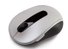 在一个空白背景的计算机鼠标 免版税库存图片