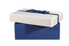在一个空白背景的配件箱 免版税图库摄影