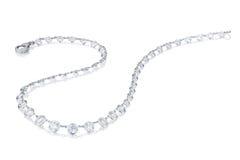 在一个空白背景的钻石项链 免版税库存图片