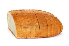 在一个空白背景的面包 免版税库存图片