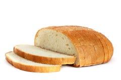 在一个空白背景的面包 库存照片