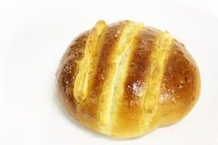 在一个空白背景的面包 免版税库存照片