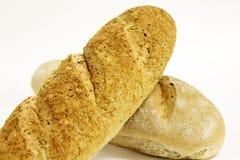 在一个空白背景的面包 库存图片