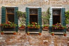花箱子,威尼斯,意大利 库存图片