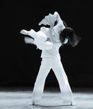 在一个立即七年现代舞蹈 免版税库存照片