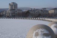 在一个罕见的冬日 免版税库存图片