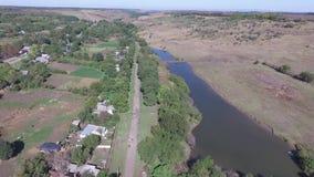 在一个美丽的湖的一次飞行 俄国 影视素材