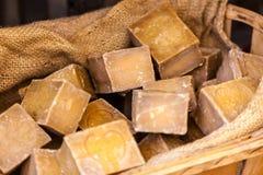 在一个美容院的手工制造肥皂在普罗旺斯法国 库存图片