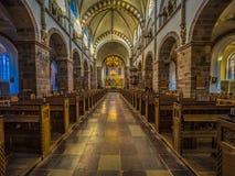 在一个老丹麦大教堂里面 免版税库存照片