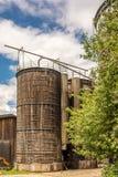 在一个老农场的谷粮仓 免版税库存照片