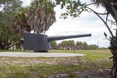 在一个老堡垒的大炮 免版税库存图片