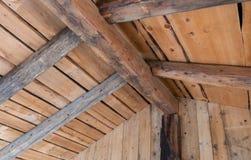 在一个老房子的木contruction 免版税图库摄影