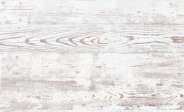 在一个老木地板上的削皮油漆 免版税库存照片