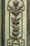 在一个老木门的模式 免版税库存图片