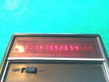 在一个老计算器的Pi 免版税库存图片